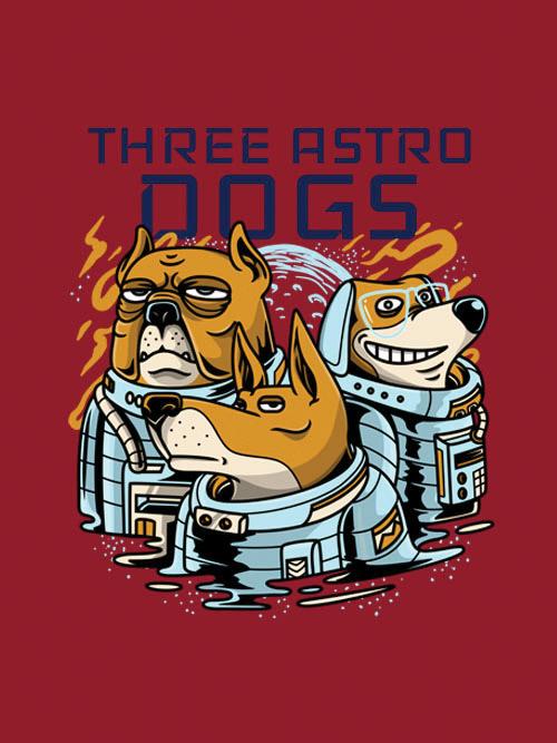 Three Astro Dogs