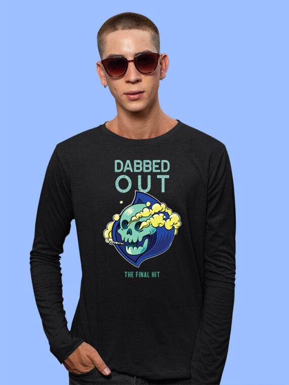 DABBED-OUT Black Full Sleeves Big Prints For Mens 3