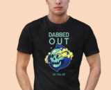 DABBED-OUT black half sleeves big prints for mens 1