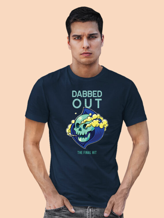 DABBED-OUT black half sleeves big prints for mens 5