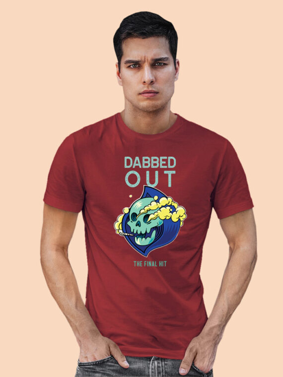 DABBED-OUT black half sleeves big prints for mens 6