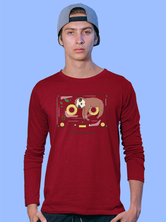 DO-IT-TOMORROW Red Full Big Prints For Men's 3