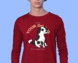 DOG-HOME Red Full Prints For Men's 1