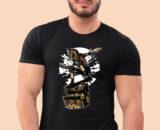 Diver-Skater-Treasure Black Half Prints For Men's 2