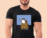 Fishing-Time Black Half Big Print T-Shirt For Men 2