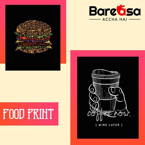 food print t-shirts