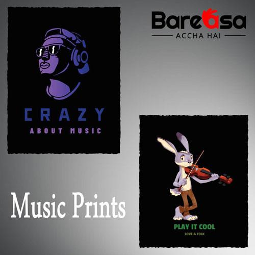 music print t-shirts