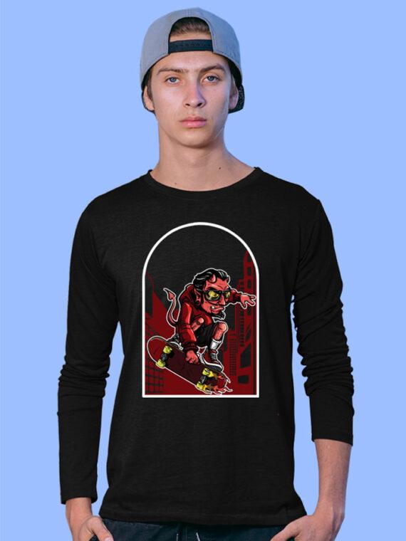 Devil-Skate Black Full Big Prints For Men 3