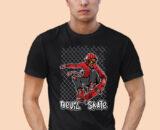 Devil-Skate Black Half Big Prints For Men's 2