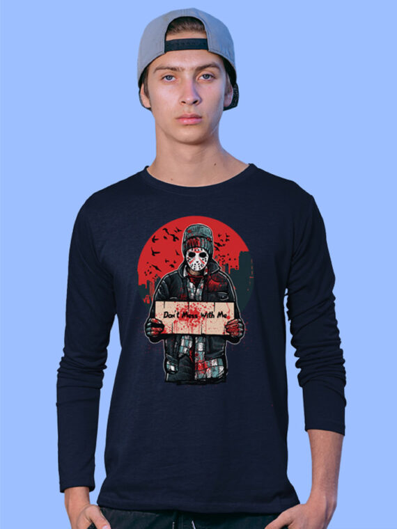Dont-Mess-With-Me Black Full Big Prints For Men's 4