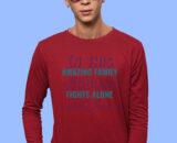 Family Red Full Big Prints For Men's 1