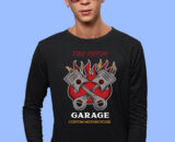 Fire-Piston Black Full Big Print T-Shirt For Men 1