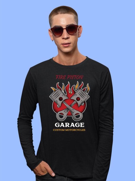 Fire-Piston Black Full Big Print T-Shirt For Men 3