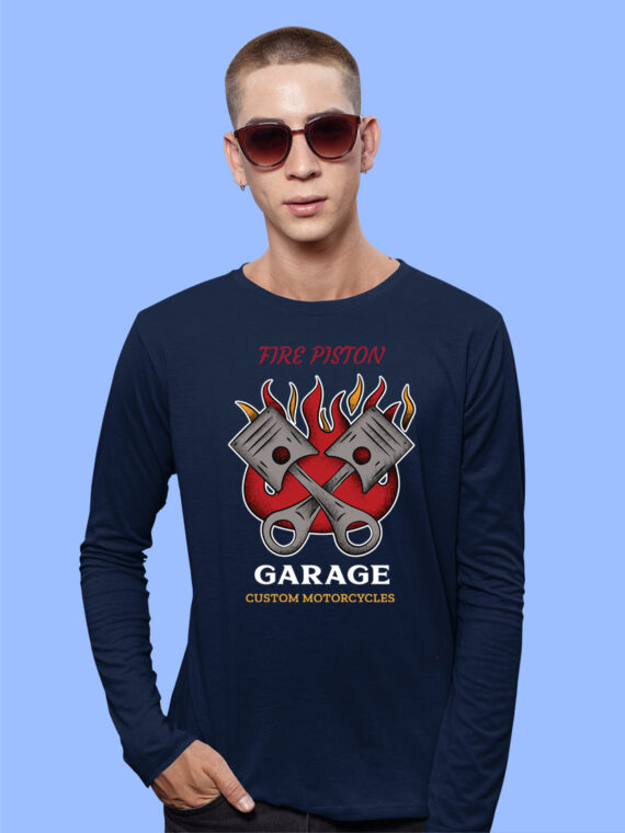 Fire-Piston Black Full Big Print T-Shirt For Men 4