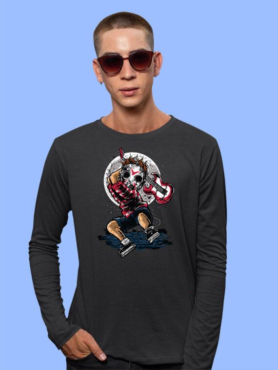Break The Noise Black Full Sleeves Big Print T-shirt For Men 1