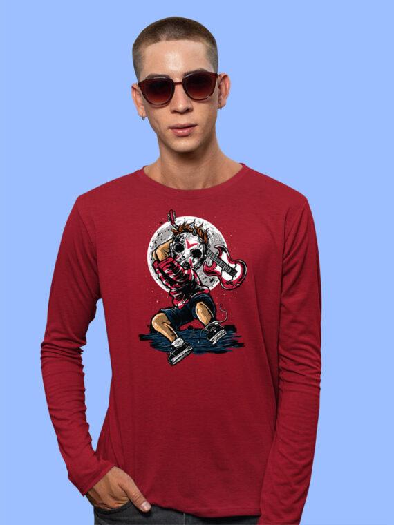 Break The Noise Black Full Sleeves Big Print T-shirt For Men 2