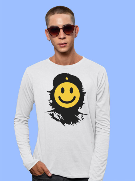 Che Smiley Red Full Sleeves Big Print T-shirt For Men 2