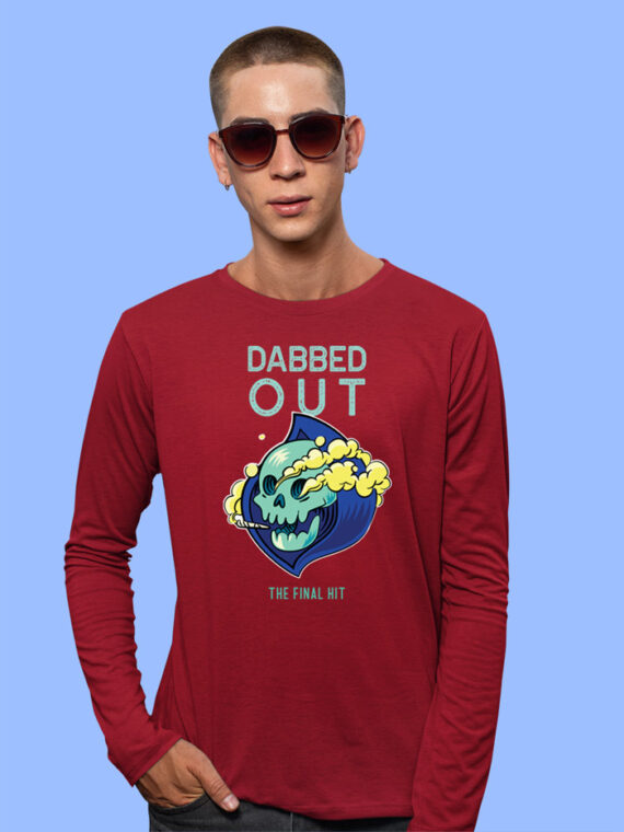 Dabbed Out Black Full Sleeves Big Print T-shirt For Men 3