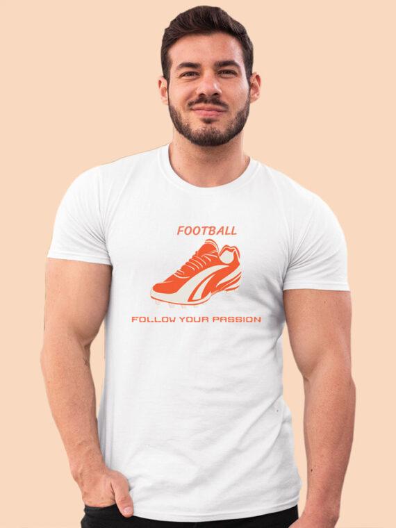 Football Black Half Sleeves Big Print T-shirt For Men 4