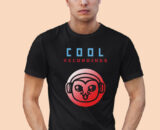 Cool Recordings Grey Half Sleeves Big Print T-shirt For Men 1
