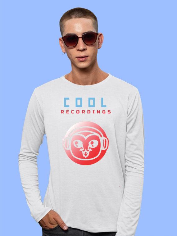 Cool Recordings Black Full Sleeves Big Print T-shirt For Men 3