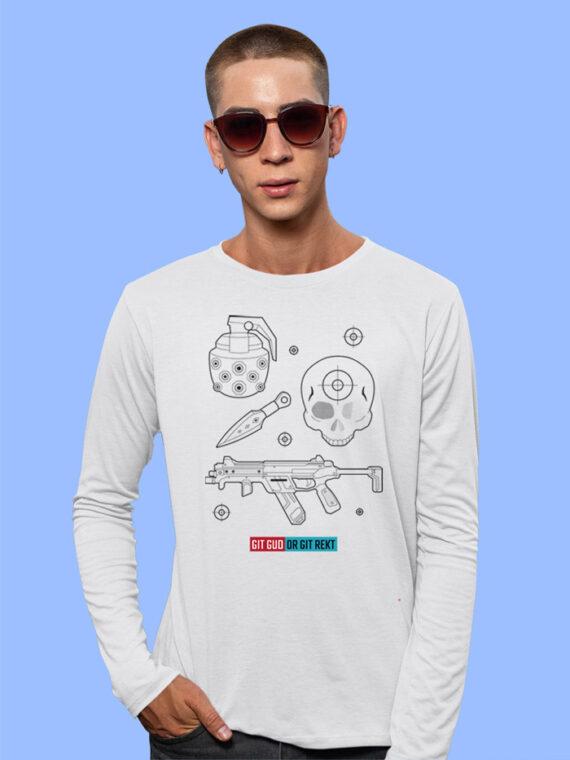 Git Gud Red Full Sleeves Big Print T-shirt For Men 4