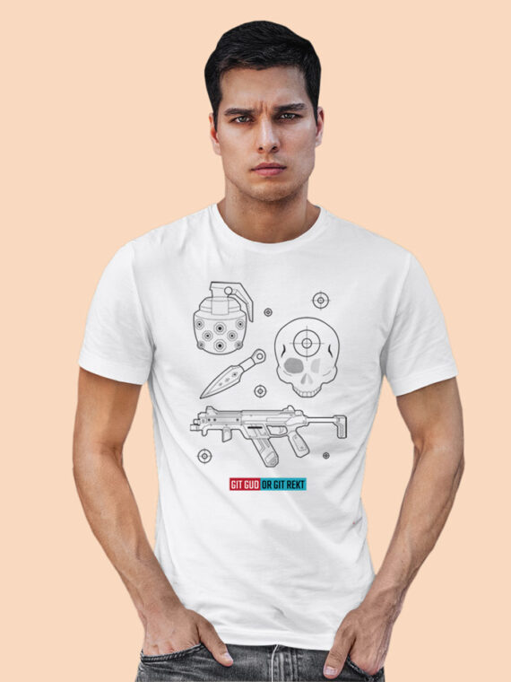 Git Gud Red Half Sleeves Big Print T-shirt For Men 4