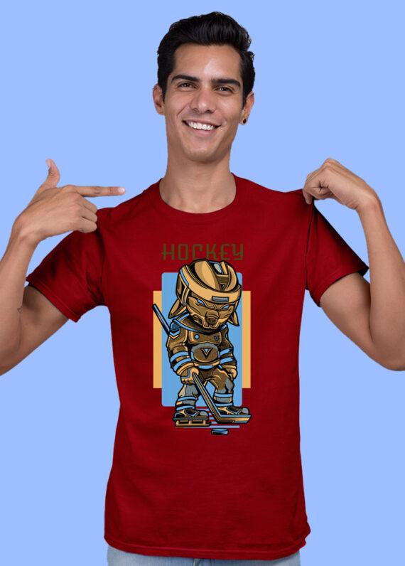 Hokey Black Half Sleeves Big Print T-shirt For Men 2