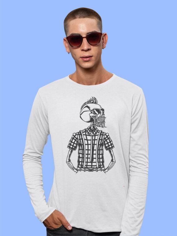 Hipster_5-1 Red Full Sleeves Big Print T-shirt For Men 1