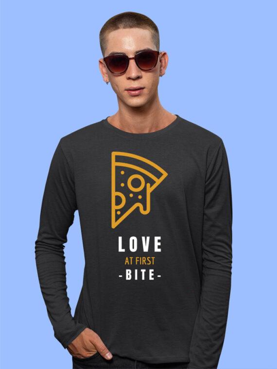 Love At First Bite Black Full Sleeves Big Print T-shirt For Men 2