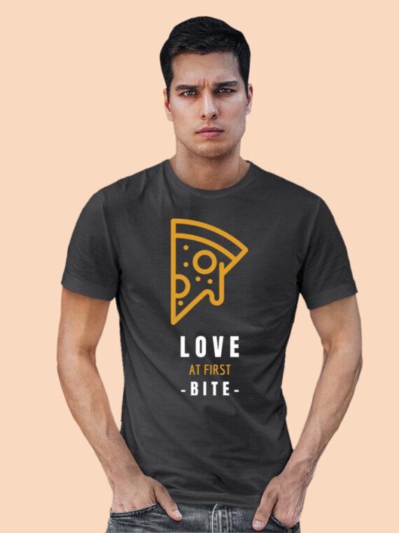 Love At First Bite Black Half Sleeves Big Print T-shirt For Men 2