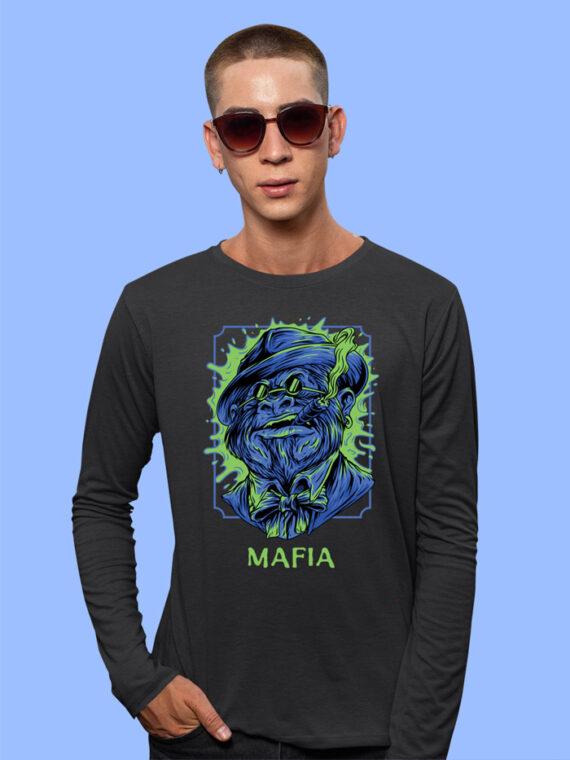 Mafia-1 Black Full Sleeves Big Print T-shirt For Men 1