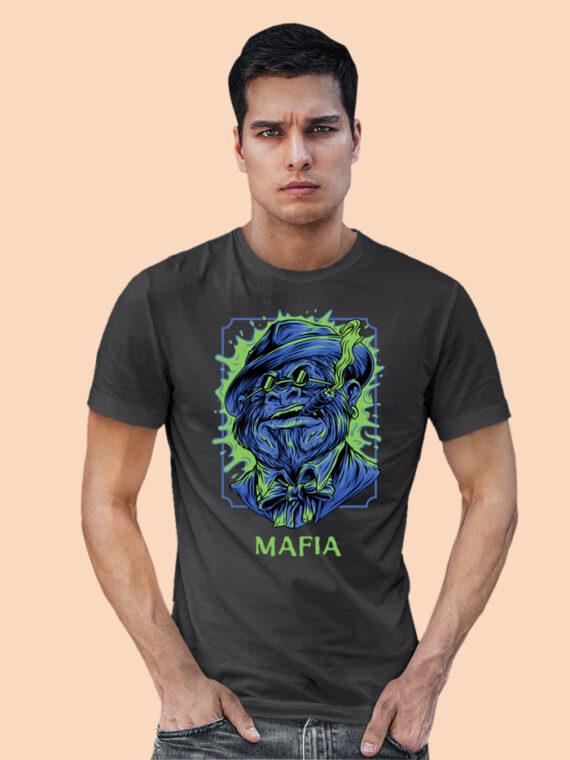 Mafia-1 Black Half Sleeves Big Print T-shirt For Men 1