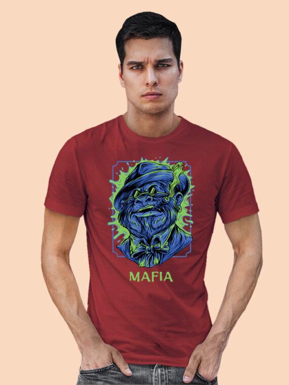 Mafia-1 Black Half Sleeves Big Print T-shirt For Men 2