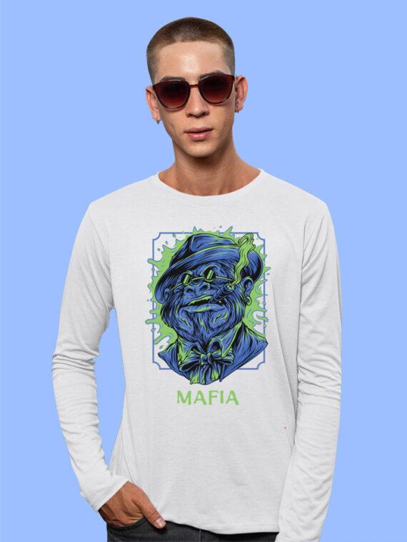 Mafia-1 Black Full Sleeves Big Print T-shirt For Men 3
