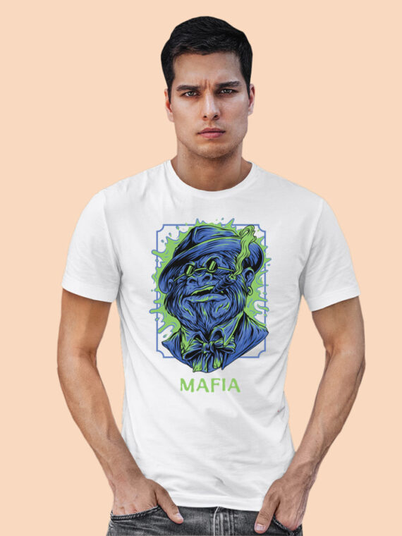 Mafia-1 Black Half Sleeves Big Print T-shirt For Men 3