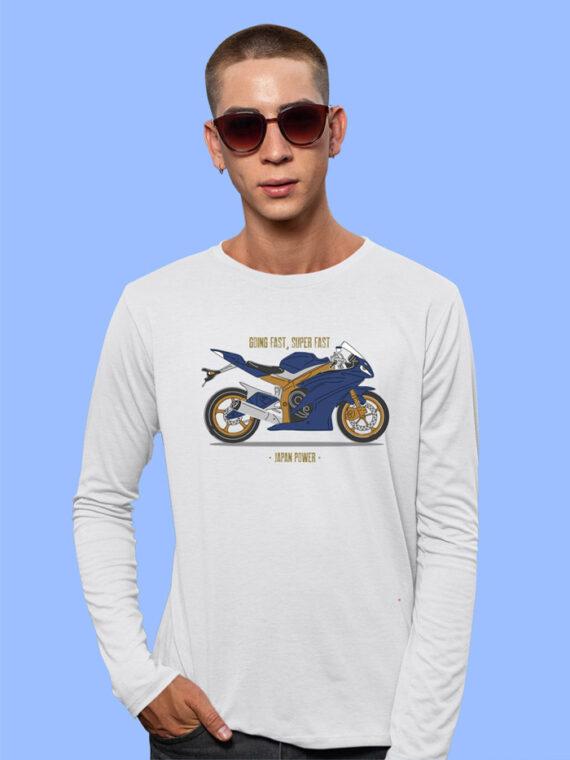 Going Fast Grey Full Sleeves Big Print T-shirt For Men 1