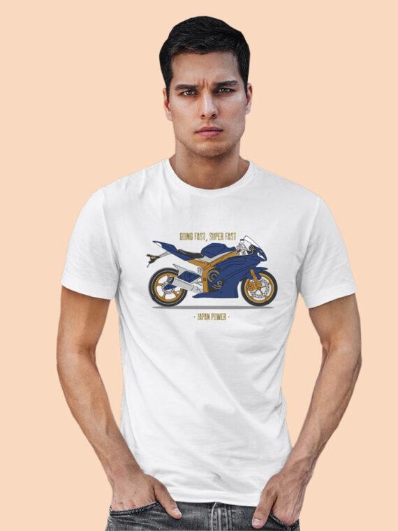 Going Fast Grey Half Sleeves Big Print T-shirt For Men 1