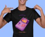 I Paused My Game Black Half Sleeves Big Print T-shirt For Men 2
