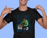 Its Like That Black Half Sleeves Big Print T-shirt For Men 1