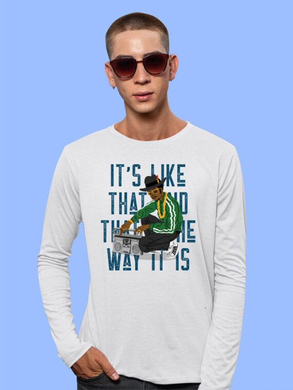 Its Like That Black Full Sleeves Big Print T-shirt For Men 5