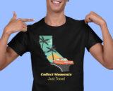Just Travel Black Half Sleeves Big Print T-shirt For Men 2