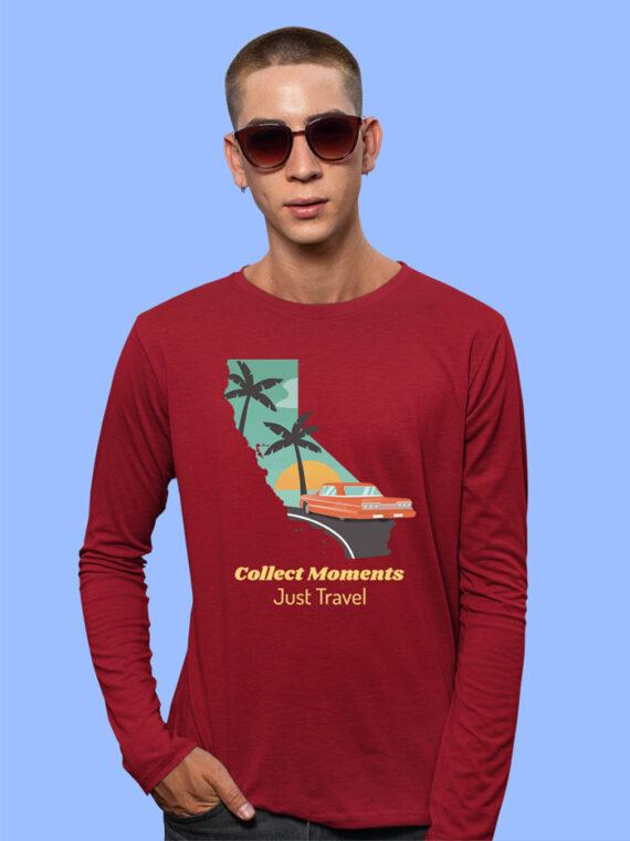 Just Travel Black Full Sleeves Big Print T-shirt For Men 5