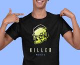 Killer Music Black Half Sleeves Big Print T-shirt For Men 2