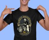 King Highway Black Half Sleeves Big Print T-shirt For Men 1
