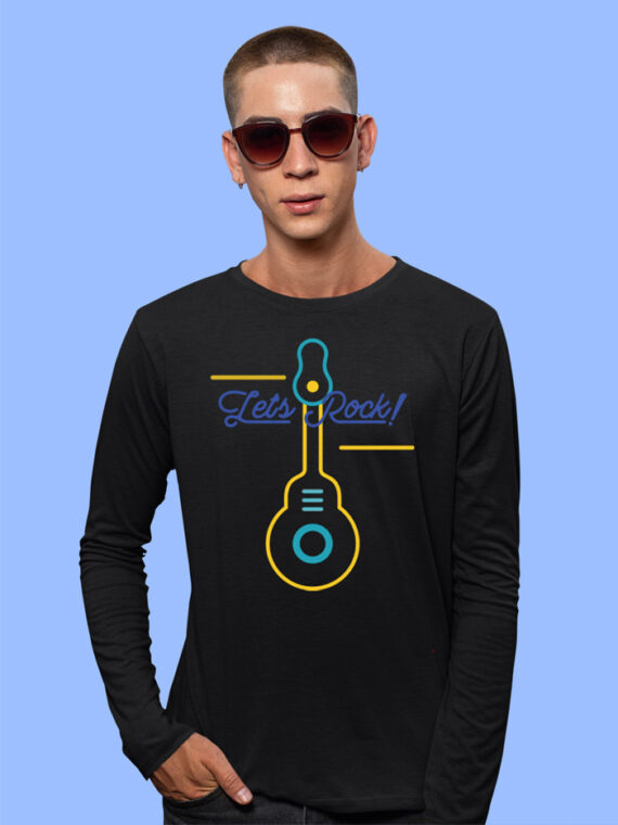 online printed black tshirts for men
