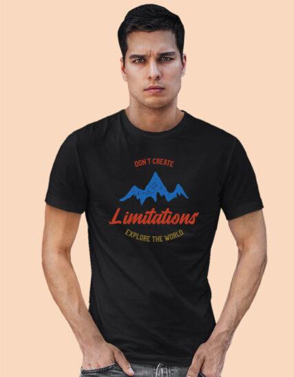 Printed half sleeves tshirts for men