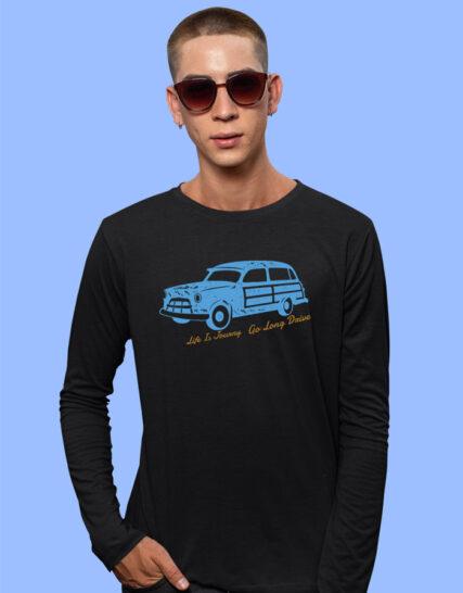 Big printed full sleeves tshirts for men