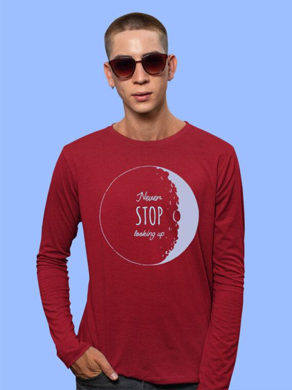 Look Up Black Full Sleeves Big Print T-shirt For Men 3