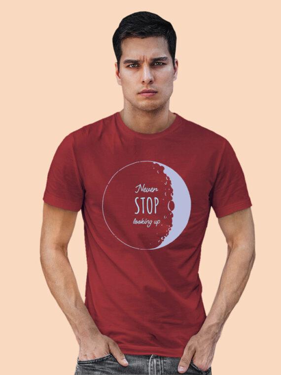 Look Up Black Half Sleeves Big Print T-shirt For Men 2